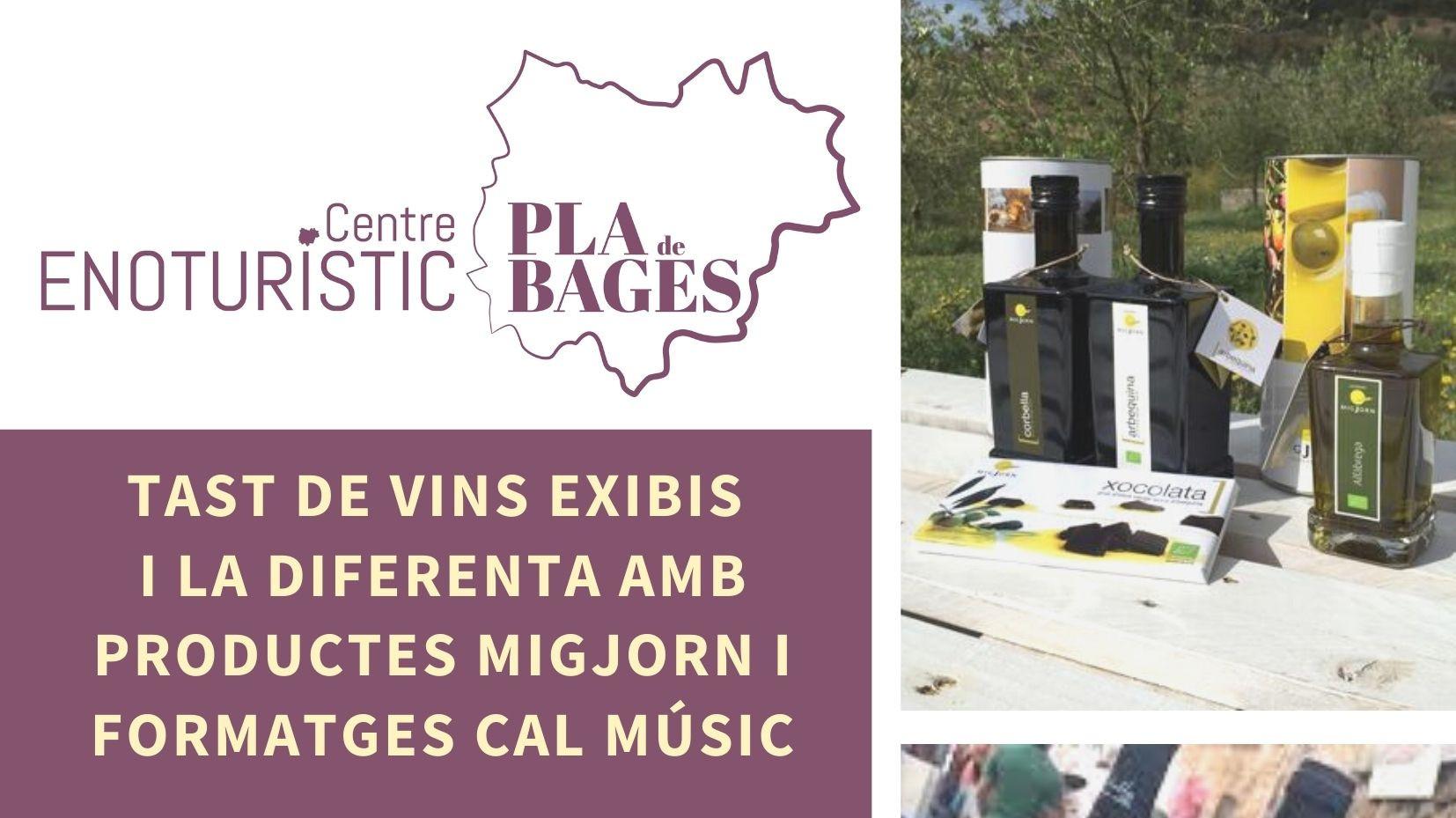 TAST DE VINS EXIBIS I LA DIFERENTA AMB FORMATGES DE CAL MUSIC I PRODUCTES MIGJORN